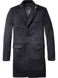 long single breasted coat scotch u0026 soda tweed plaid wool