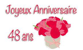 48 ans de mariage carte anniversaire mariage 48 ans bouquet