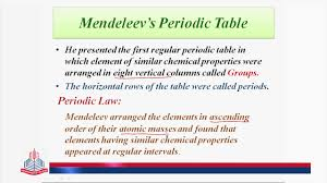 how does the modern periodic table arrange elements historical background mendeleev u0027s periodic table youtube
