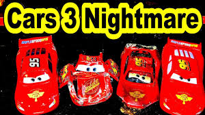pixar cars3 lightning mcqueen nightmare crash solved by mater and