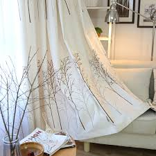 Decoration For Window Aliexpress Com Buy Pastoral Cotton Curtain Living Room Plant