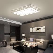 luminaire de chambre cristal plafonnier surface monté moderne led plafonniers pour le