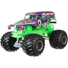 Wheels Monster Jam Grave Digger Purple Walmart