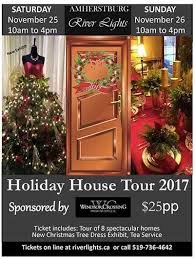 river of lights tickets amherstburg holiday house tour 2017