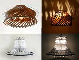 Creative Lamp Shades Recycle Creative Lamp Using Wood Or Plastic Clothes Hangers