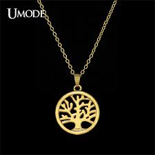 Personalized Photo Pendant Necklace Aliexpress Com Buy Umode Handmade Personalized Gold Color Tree