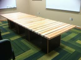 hand crafted laminated wood conference table with multiple woods custom made laminated wood conference table with multiple woods