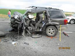 wrecked jeep grand cherokee 2 dead 2 critical after wrong way driver causes head on collision