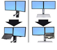 Stand Up Desk Conversion Kit by Ergotron Workfit Convert To Lcd U0026 Laptop Kit From Dual Displays