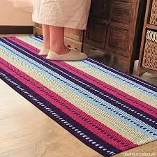 tapis cuisine lavable pragoo colorful coton tapis tissés à la à rayures tapis cuisine