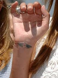 100 heart with wings tattoo on wrist cute heart angel wings