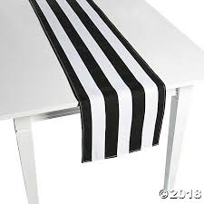 black and white table runners cheap white striped table runners