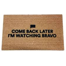 come back later i m bravo coir doormat