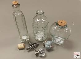 decorated glass bottles