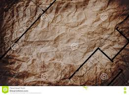abstract architecture home layout floor plan on brown crumpled