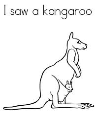 i saw a kangaroo coloring page netart