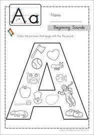letter g beginning sound color pictures worksheet letter g