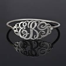 monogram bracelet silver slip on bangle monogram bracelet
