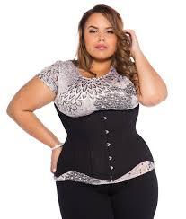 black cotton plus size corset underbust steel boned corset