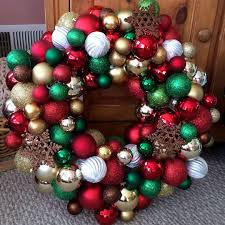 how to make an ornament wreath my happy