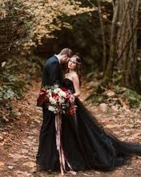 30 black wedding dresses with edgy elegance alternative bride