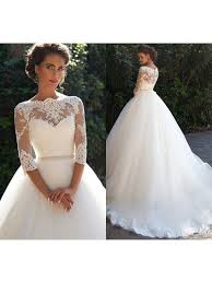 wedding dresses with sleeves 3 4 sleeve lace wedding dress with all about wedding