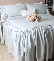ruffled linen shabby chic duvet cover the mirabelle linen