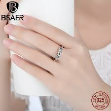 sterling silver wedding gifts high quality 925 sterling silver signature of ring clear cz