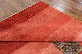 Modern Orange Rugs new modern collection orange 7 u0027x10 u0027 gabbeh hand knotted wool area