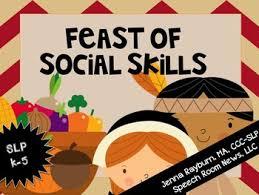 thanksgiving pragmatics social skills for speech therapy