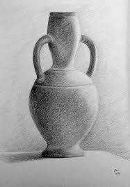 Vase Drawing Pencil Drawing Still Life Terracotta Vase Object Drawing