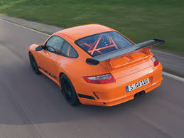 Porsche 911 Orange - porsche 911 gt3 rs 997 black orange top rear track motion