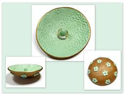 Gifts For The Home handmade mint green wedding ring dish jewelry holder jewelry