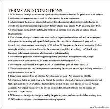 online advertising contract template templatezet