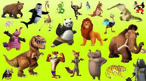 learn alphabet with cartoon u0026 real animals for children abc wild