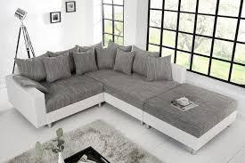 federkern sofa design ecksofa mit hocker loft grau riess ambiente de