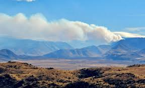 U S Route 395 In by Fire Closes Highway 395 South Of Walker River Canyon