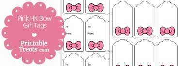 hello bow pink hello bow gift tags printable treats