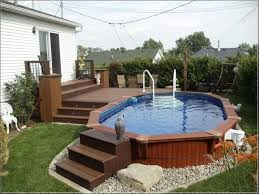 Backyard Above Ground Pool Ideas 49 Best Small Above Ground Pools Images On Pinterest Above