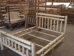 Wooden Log Beds Making Log King Size Bed Modern King Beds Design
