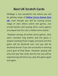 best scratch cards best uk scratch cards