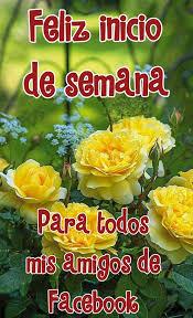 imagenes de feliz inicio de semana con rosas feliz inicio de semana para todos mis amigos de facebook imagen
