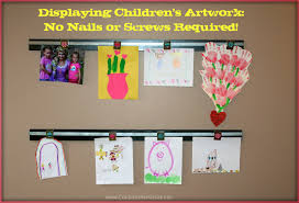 Picture Hangers Without Nails by Displaying Children U0027s Art Work How To Make A Wooden Wall Art