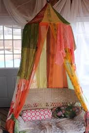 Lace Bed Canopy Pink Lace Hanging Bed Canopy Sari And Scarf Bohemian Tent Rose
