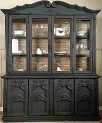 Black China Cabinet Hutch by Oliver And Rust General Finishes Lamp Black China Cabinet With