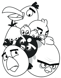 angry birds coloring pages blue bird pictures print star wars