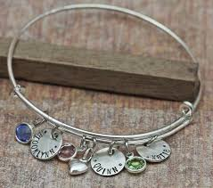 Mothers Bracelets With Names Hand Stamped Names Bangle Mothers Bracelet 2014 Custom Bracelets