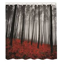 Tree Curtain Uk Waterproof Bathroom Shower Curtain Fabric Animal Printing Tree
