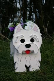 west highland terrier westie garden planters handmade