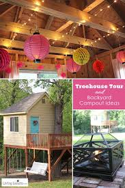 Backyard Gift Ideas Tree House Tour And Backyard Cout Ideas